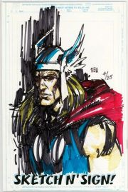 Call Of Duty #1 Jay Company Originals Sketch N Sign Keu Cha Remarked Thor COA #4